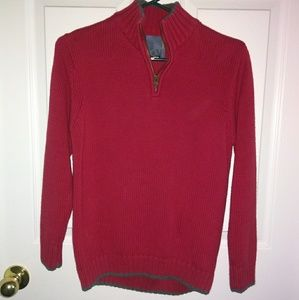 Boys red & gray sweater
